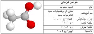 خصوصیات اسید استیک